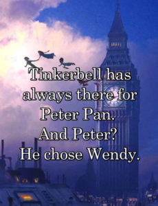 peter chose wendy